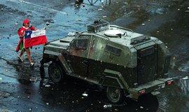 Protesty v Chile, ilustrační foto