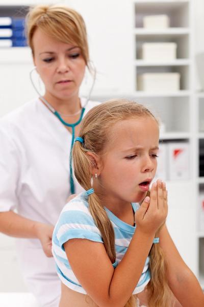 praktik, dítě, pediatr, kašel