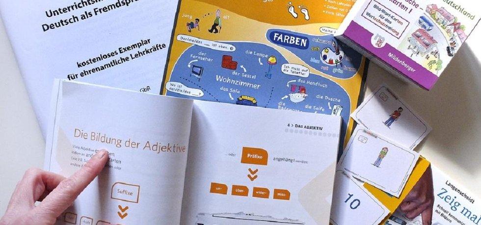 Němčina, učebnice. Ilustrační foto.