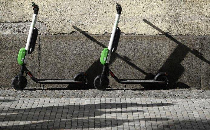 Koloběžky Lime v centru Prahy