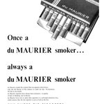 Jednou kuřák značky Maurier. Navždy kuřák Maurier. Rok 1955