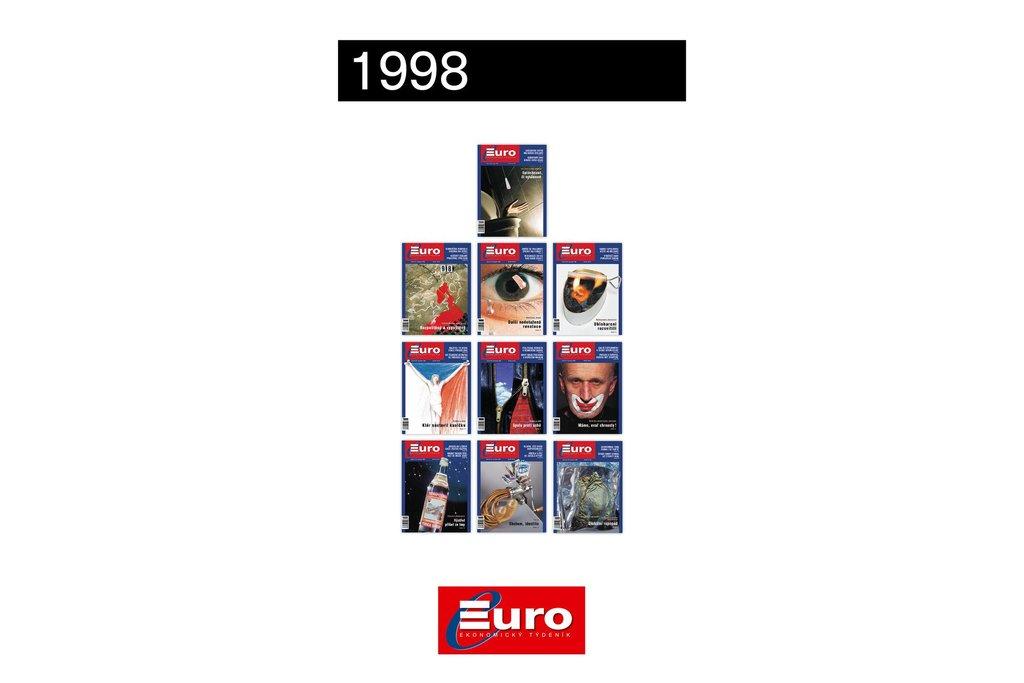 Titulní stránky magazínu Euro z roku 1998