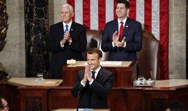 Francouzský prezident Emmanuel Macron v Kongresu USA