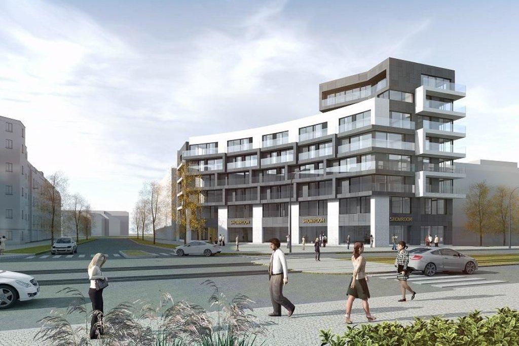 Central Group chce začít stavět projekt Parková čtvrť severně od Nákladového nádraží Žižkov v roce 2019. Vizualizace studia Monhard