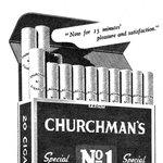 Cigarety Churmans slibovaly v roce 1945 15 minut rozkoše a uspokojení.