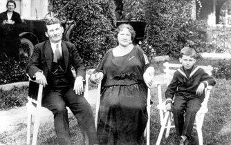 Tomáš Baťa s rodinou
