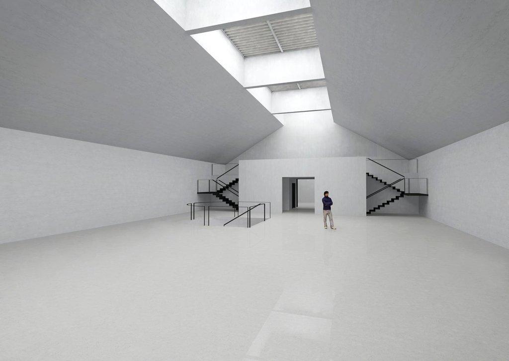 Vizualizace vnitřních prostor Památníku ticha