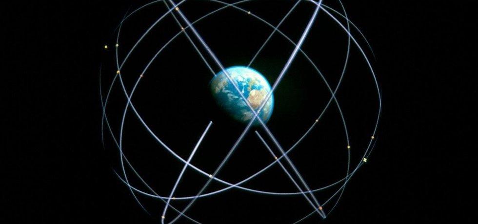 Systém družic GPS, ilustrační snímek