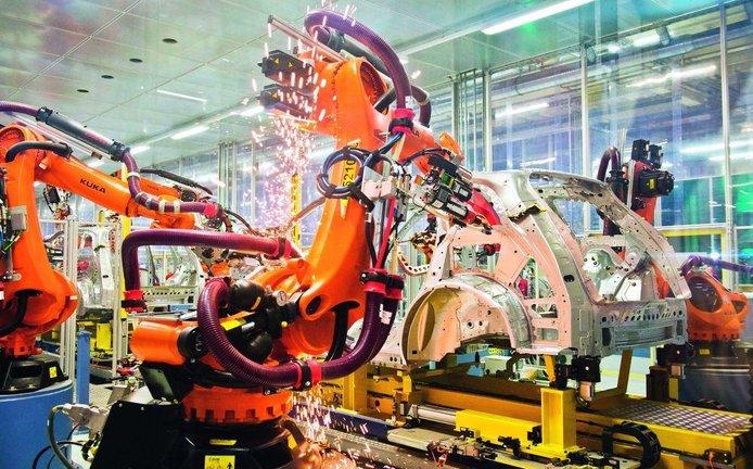 Výroba automobilů, ilustrační foto