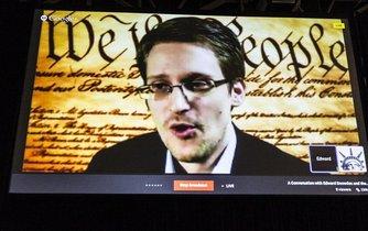 Edward Snowden vystoupil v roce 2014 na konferenci v Texasu prostřednictvím služby Google Hangout.