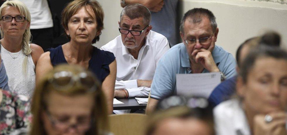 Premiér Andrej Babiš na setkání s klienty H-Systemu v Horoměřicích