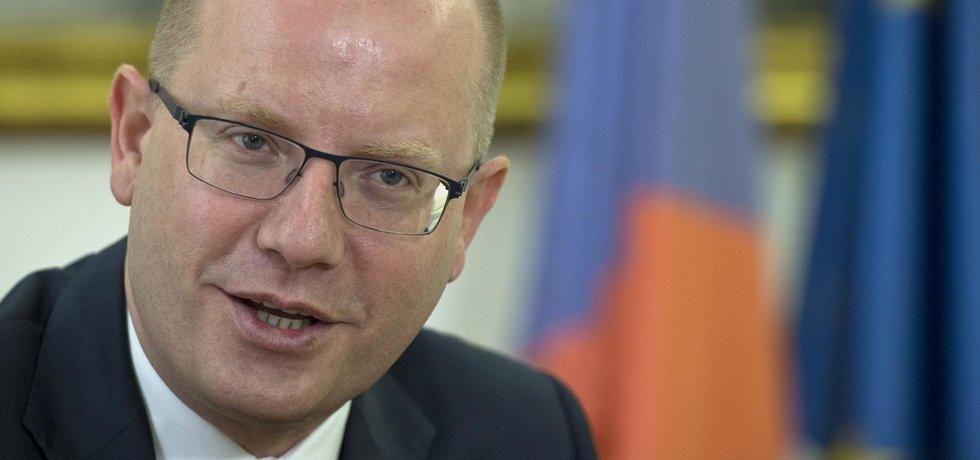 Dosluhující premiér Bohuslav Sobotka (ČSSD)