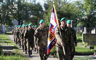 Vojáci z aktivních záloh v Olomouci