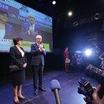 Jiří Drahoš hovoří v La Fabrice ke svým podporovatelům
