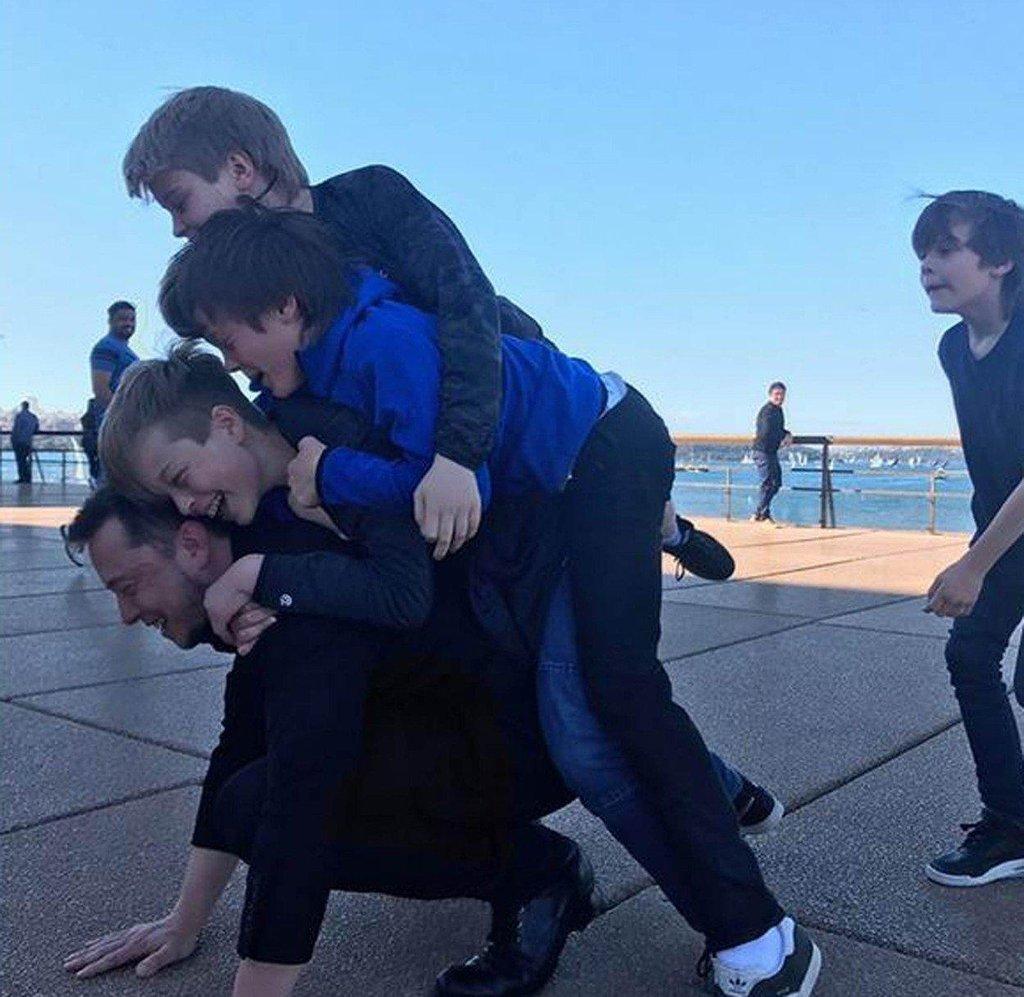 Musk se svými dětmy