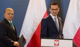 Maďarský premiér Viktor Orbán se svým polským protějškem Mateuszem Morawieckim