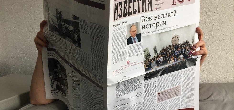 Ruské noviny - ilustrační foto