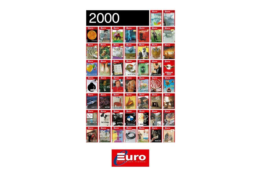 Titulní stránky magazínu Euro z roku 2000