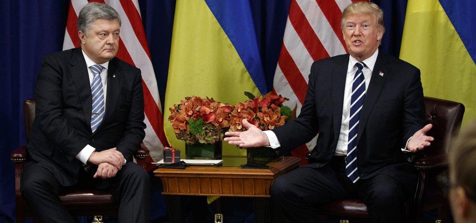 Petro Porošensko spolu s Donaldem Trumpem