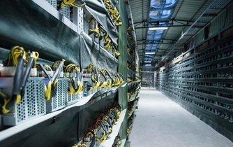 Bitcoinový důl v Číně. Ilustrační foto.