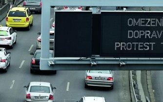 Protest proti Uberu, ilustrační foto