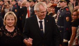Prezident Miloš Zeman v doprovodu své ženy Ivany