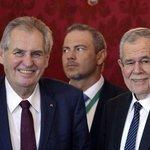 Miloš Zeman a jeho rakouský protějšek Alexander Van der Bellen