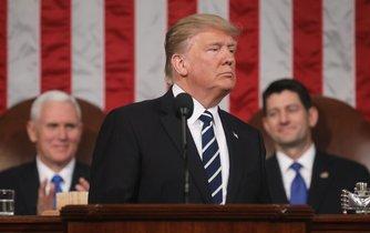 Donald Trump poprvé vystoupil před oběma komorami Kongresu