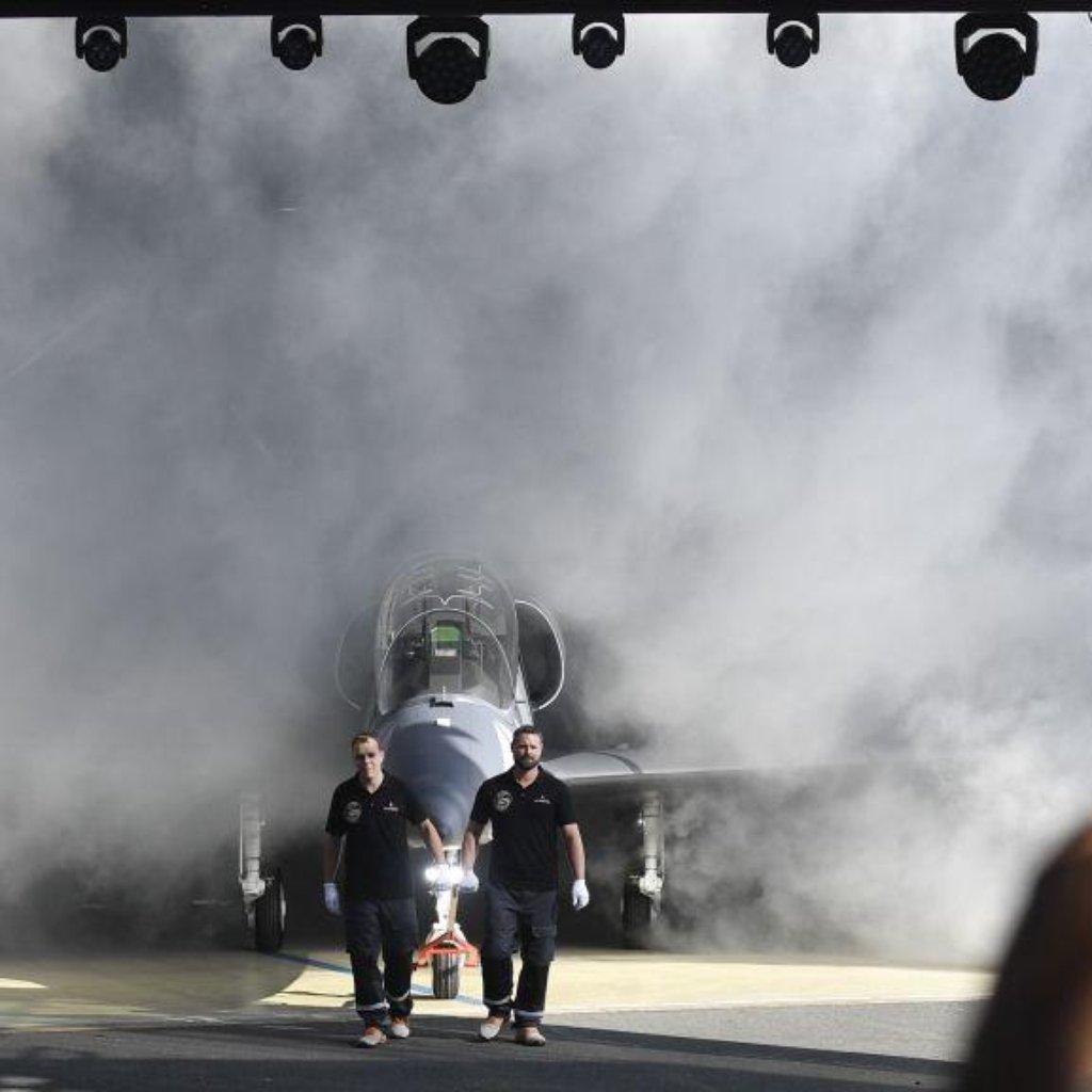 Aero Vodochody představilo 12. října 2018 v areálu společnosti v Odolené Vodě u Prahy nový letoun L-39NG.
