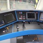Řídící kabina lokomotivy Vectron firmy Regiojet