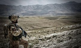 Český voják v afgánské provincii Lógar