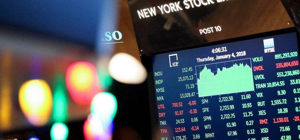Dow Jonesův index poprvé překonal hranici 25 tisíc bodů