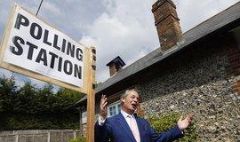Nigel Farage vyhrál v Británii eurovolby se stranou pouhých šest týdnů