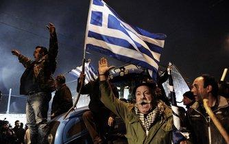 Protesty v Řecku, ilustrační foto