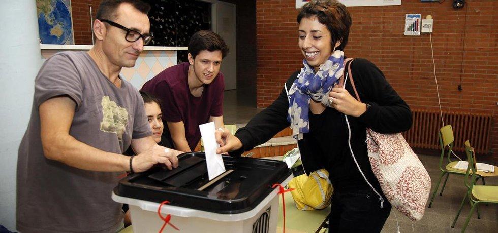 Hlasování v katalánském referendu