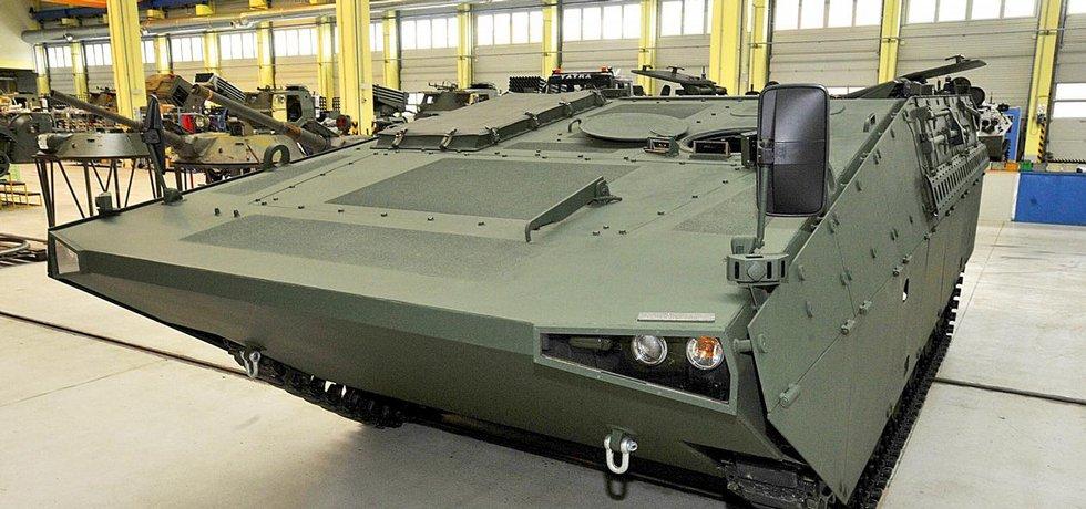 V oblasti dodávek pro vojáky by se chtěl Excalibur na Slovensku a dalších zemích prosadit s bojovým vozidlem pěchoty Šakal