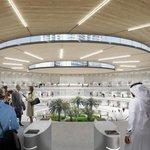 Vizualizace vestibulu stanice Hyperloop One v Dubaji.