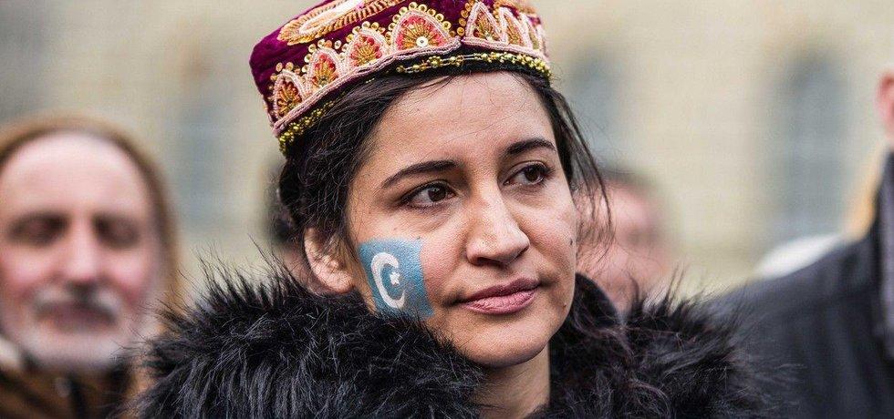 Demonstrace na podporu Ujgurů v Německu, iliustrační foto
