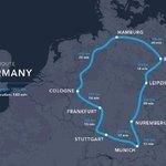 Možná trasa Hyperloop One po Německu.