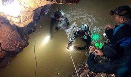 Záchranná akce v Thajsku