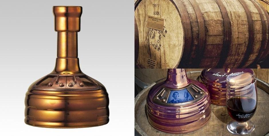 Láhev piva za 4080 korun bostonského pivovaru Samuel Adams ze série Utopias.