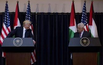 Americký prezident Donald Trump se v Betlémě setkal se šéfem palestinské autonomie Mahmúdem Abbásem