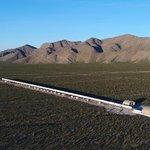 Testovací dráha Hyperloop One v Nevadě.