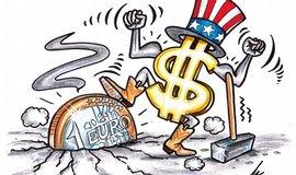 Euro vůči dolaru oslabuje