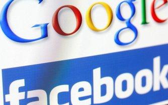 Facebook, Google. Ilustrační foto