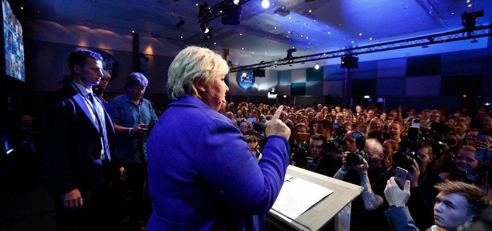 Dosavadní norská premiérka Erna Solbergová