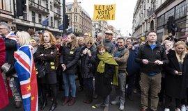 Demonstrace za druhé referendum o odchodu Velké Británie z Evropské unie v ulicích Londýna