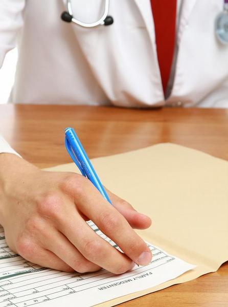 lékař, dokumentace, pero