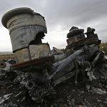 Trosky sestřeleného letounu MH17