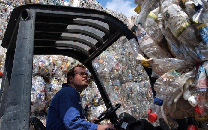 Skládka plastového odpadu